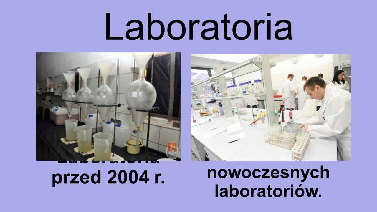 Laboratoria Laboratoria przed 2004 r. Powstało 1713 nowoczesnych laboratoriów.