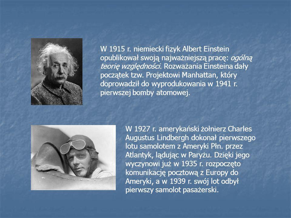 W 1915 r. niemiecki fizyk Albert Einstein opublikował swoją najważniejszą pracę: ogólną teorię względności. Rozważania Einsteina dały początek tzw. Pr