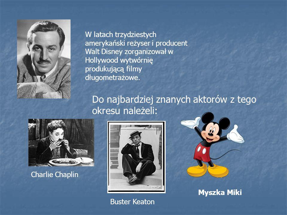W latach trzydziestych amerykański reżyser i producent Walt Disney zorganizował w Hollywood wytwórnię produkującą filmy długometrażowe. Do najbardziej