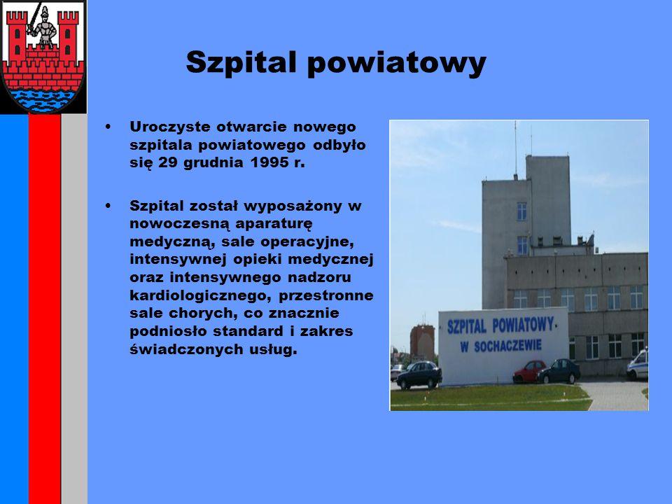 Szpital powiatowy Uroczyste otwarcie nowego szpitala powiatowego odbyło się 29 grudnia 1995 r.