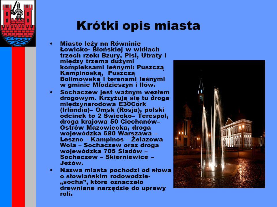 Sochaczew w liczbach Ludność- 38 201 Mężczyźni- 18 155 Kobiety- 20 046 Średni dochód na mieszkańca- 1272,49zł.