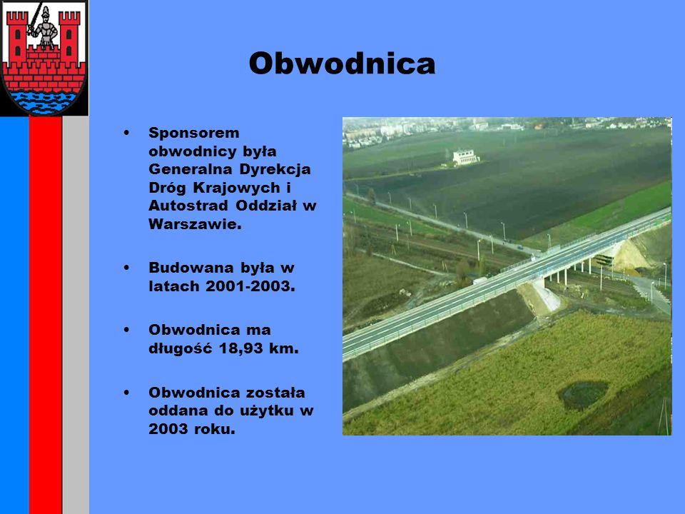 Obwodnica Sponsorem obwodnicy była Generalna Dyrekcja Dróg Krajowych i Autostrad Oddział w Warszawie.