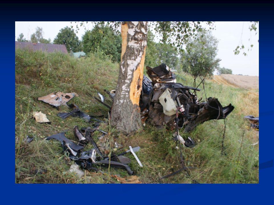 Pojazd rozpadł się na poszczególne elementy...