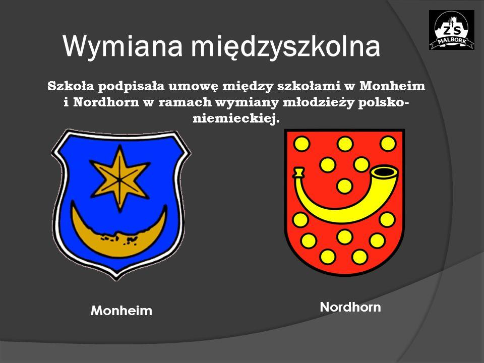 Wymiana międzyszkolna Szkoła podpisała umowę między szkołami w Monheim i Nordhorn w ramach wymiany młodzieży polsko- niemieckiej.