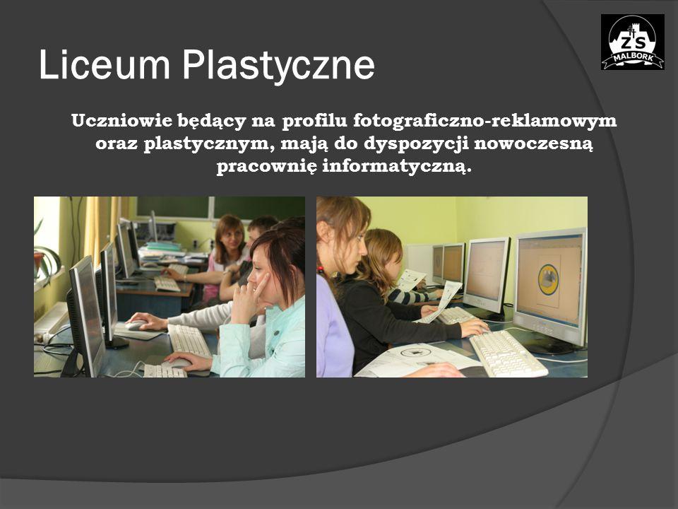 Liceum Plastyczne Uczniowie będący na profilu fotograficzno-reklamowym oraz plastycznym, mają do dyspozycji nowoczesną pracownię informatyczną.