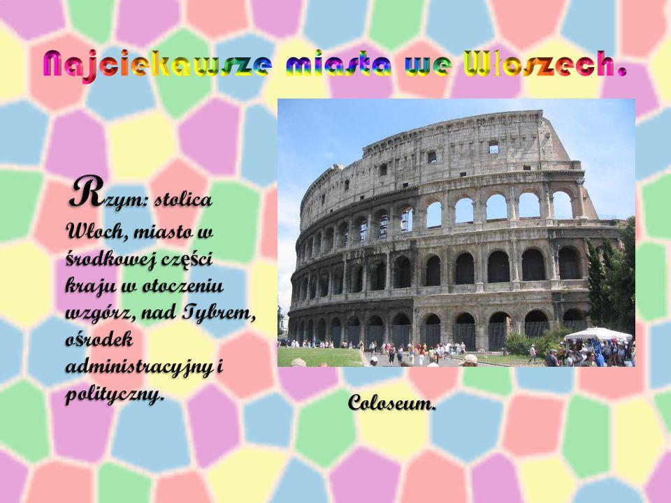 Włochy – du ż e pa ń stwo le żą ce w Europie Południowej, posiadaj ą ce na swoim terytorium dwie enklawy: San Marino na północy i Watykan na terenie s