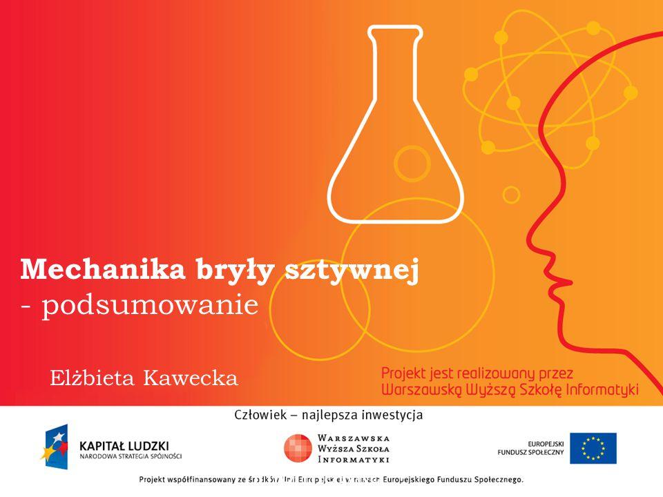 Mechanika bryły sztywnej - podsumowanie Elżbieta Kawecka informatyka + 2