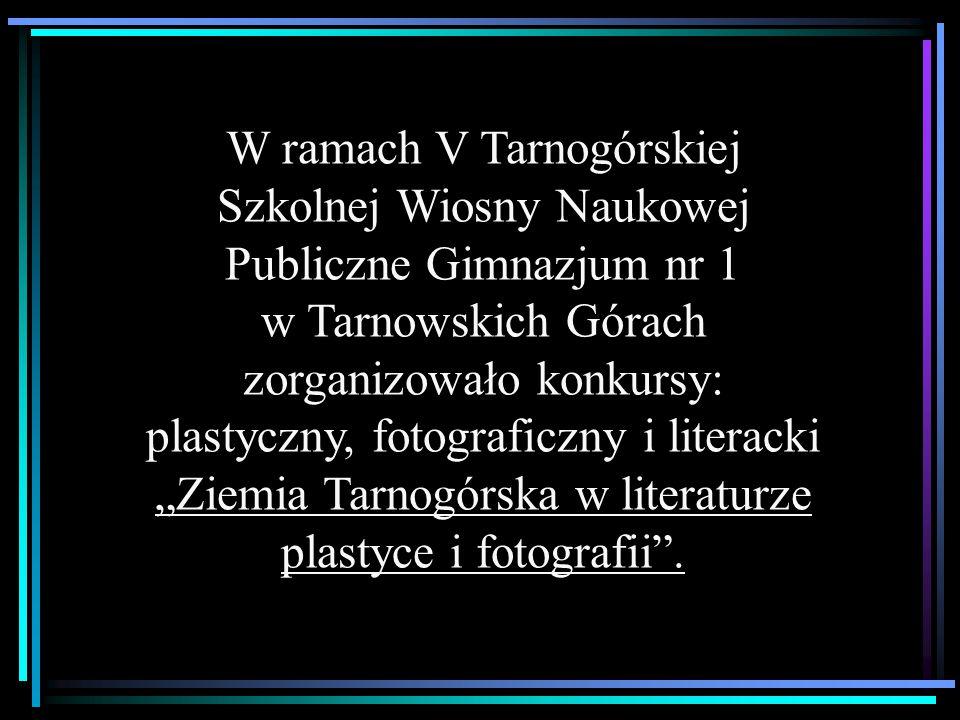 W ramach V Tarnogórskiej Szkolnej Wiosny Naukowej Publiczne Gimnazjum nr 1 w Tarnowskich Górach zorganizowało konkursy: plastyczny, fotograficzny i li