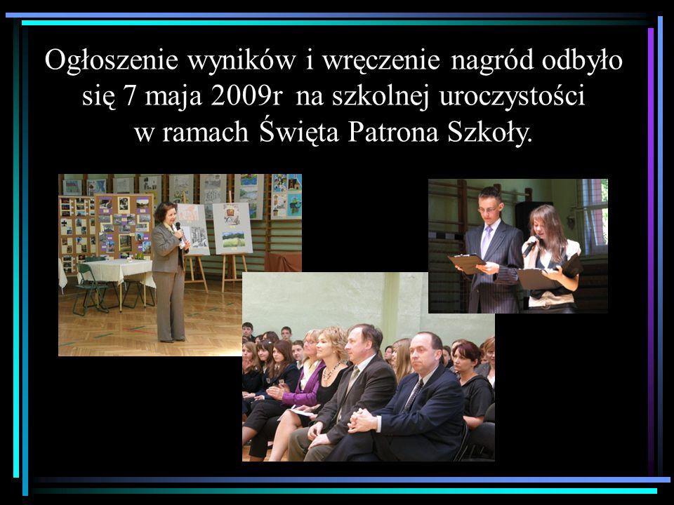 Prace wszystkich uczestników zostały zaprezentowane na wystawie pokonkursowej w Publicznym Gimnazjum nr 1 w Tarnowskich Górach.