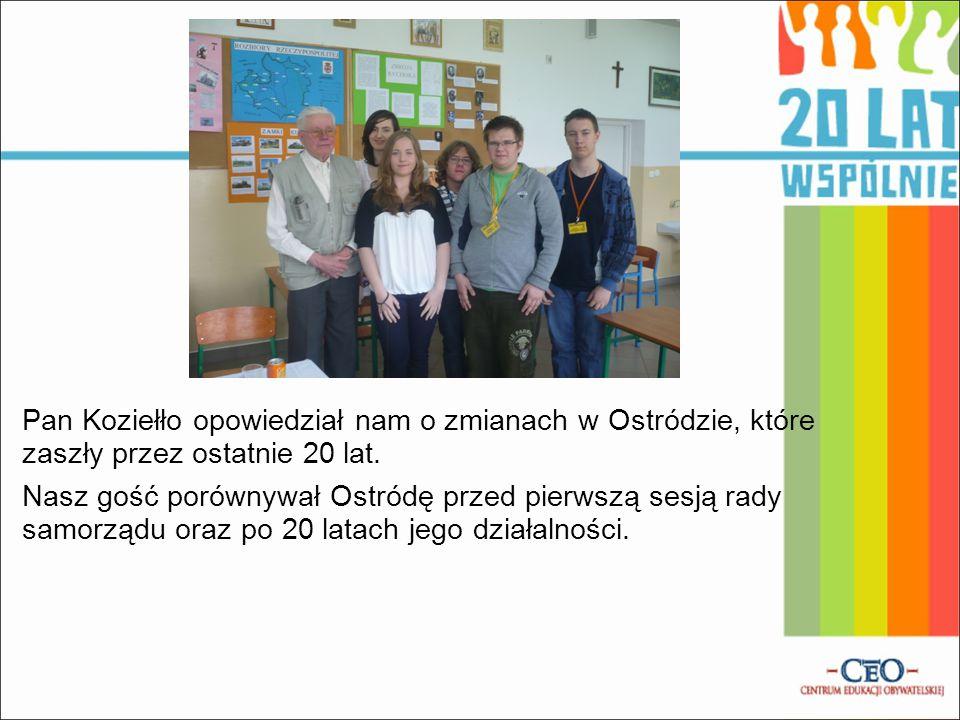 Pan Koziełło opowiedział nam o zmianach w Ostródzie, które zaszły przez ostatnie 20 lat.