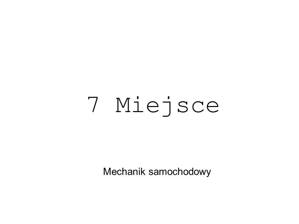 Mechanik samochodowy 7 Miejsce