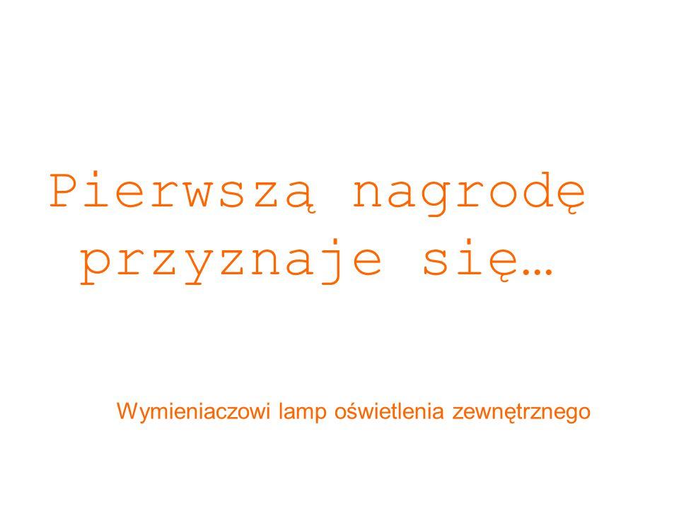 Pierwszą nagrodę przyznaje się… Wymieniaczowi lamp oświetlenia zewnętrznego