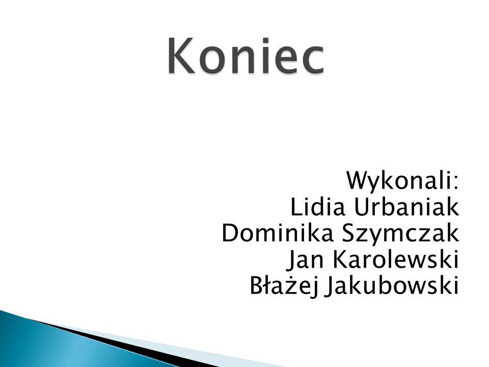 Wykonali: Lidia Urbaniak Dominika Szymczak Jan Karolewski Błażej Jakubowski