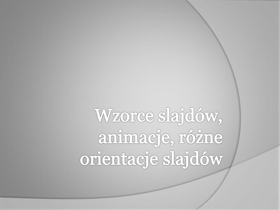 Aby dodać efekt animacji do obiektu, należy zaznaczyć obiekt, który chcemy animować.