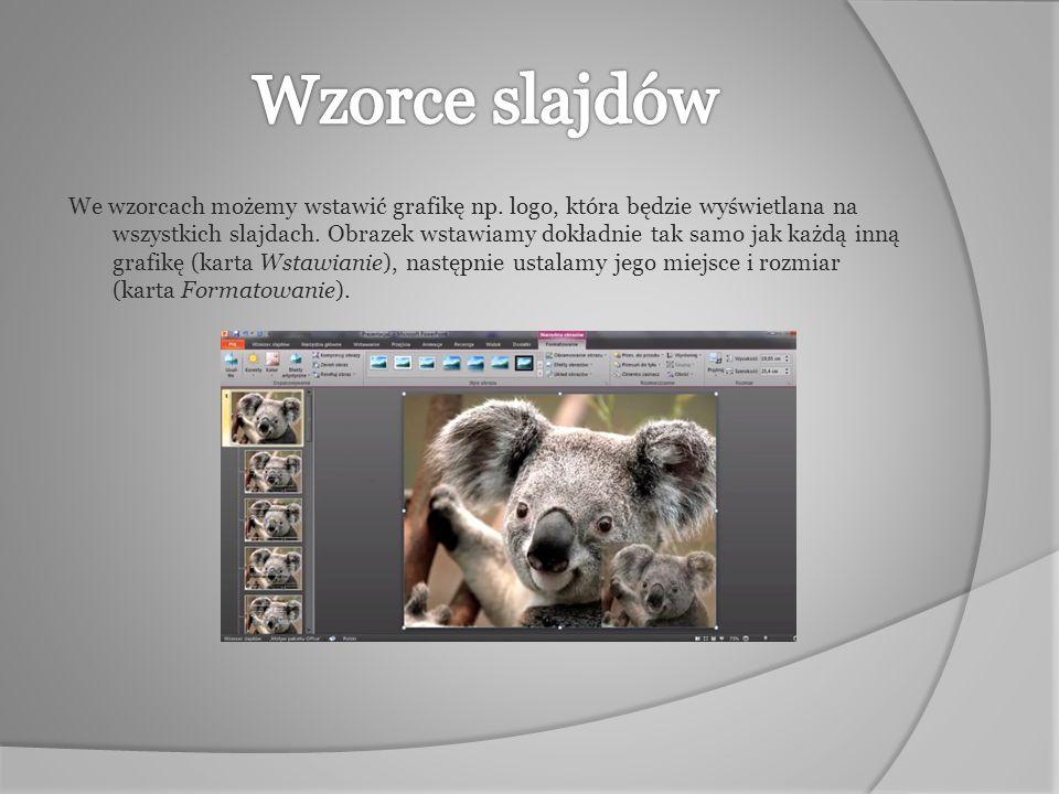 Poprzez wzorce slajdów mamy również możliwość stworzenia prezentacji panoramicznej.