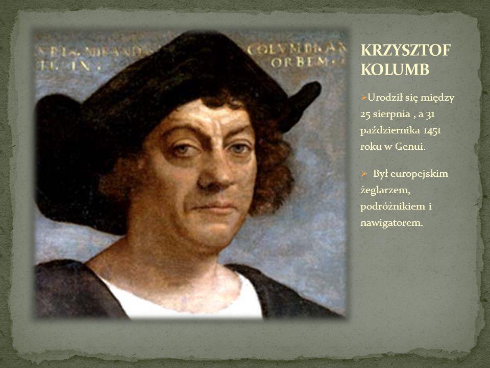  Kolumb wyruszył w pierwszą wyprawę w 1942 roku.