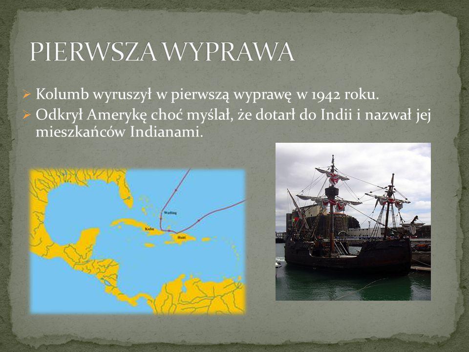 Kolumb przywiózł do Europy pierwszych indiańskich niewolników, przywiózł także m.in.