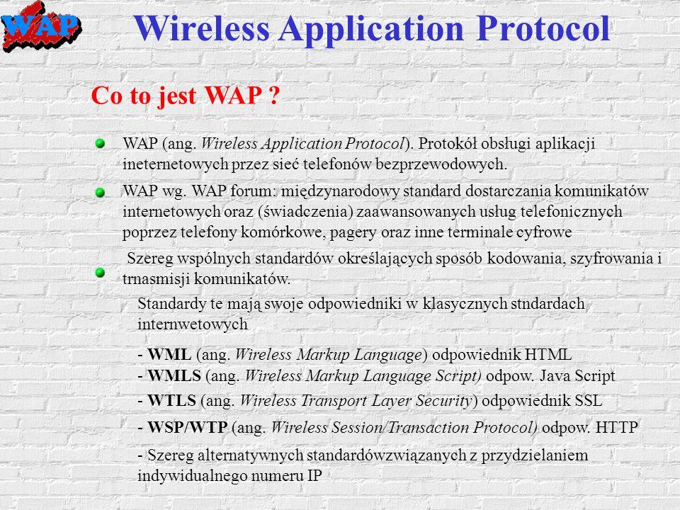 Wireless Application Protocol Co to jest WAP . WAP (ang.
