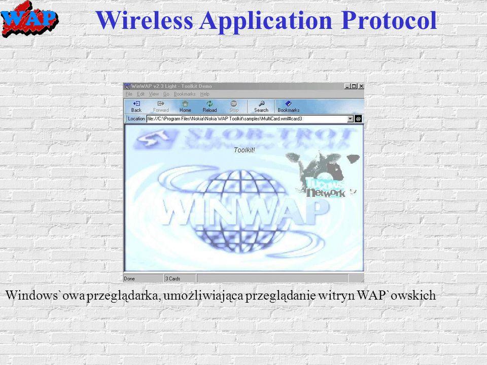 Windows`owa przeglądarka, umożliwiająca przeglądanie witryn WAP`owskich Wireless Application Protocol