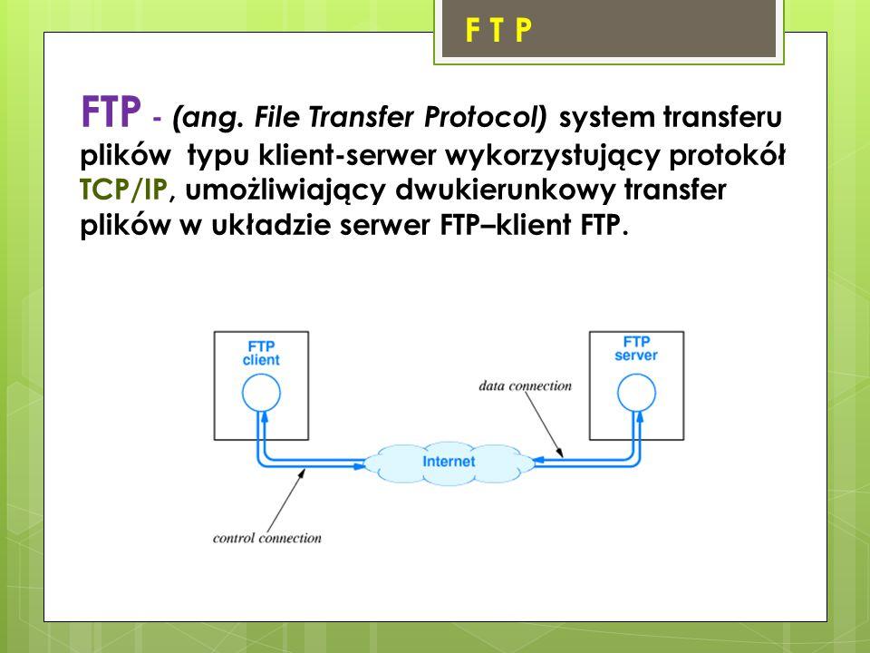 F T P FTP - (ang.