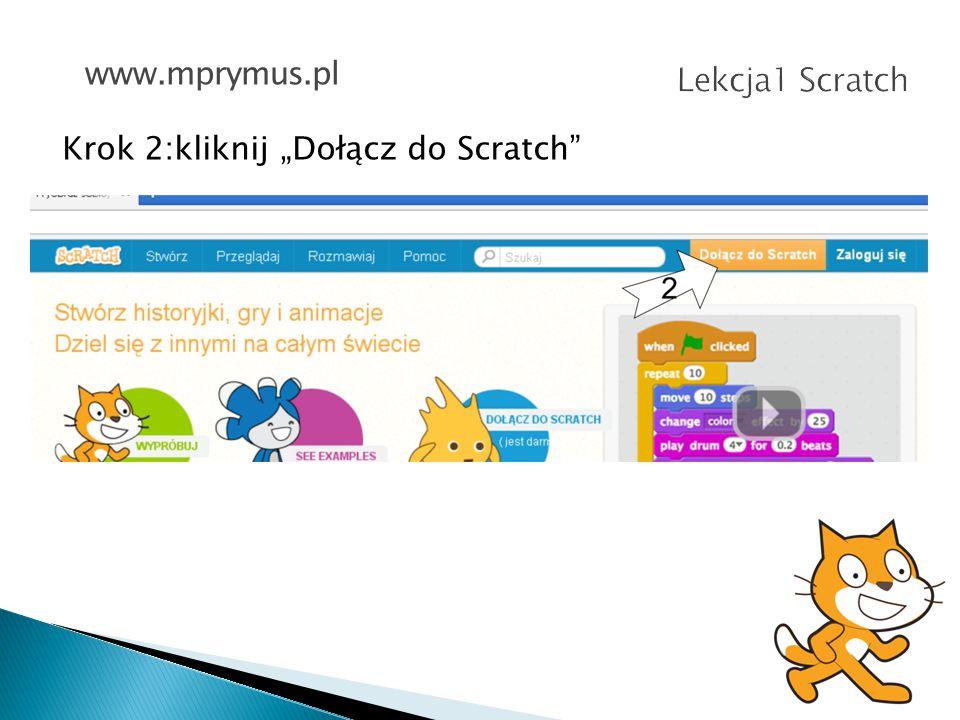 Krok 3:wybierz swój NICK oraz hasło (i potwierdź je) www.mprymus.pl