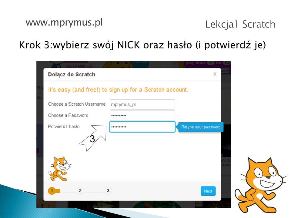 Krok 4: podaj datę urodzin, płeć, kraj i swój adres email www.mprymus.pl