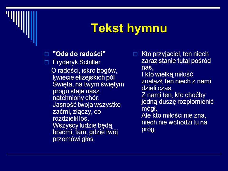 Tekst hymnu 
