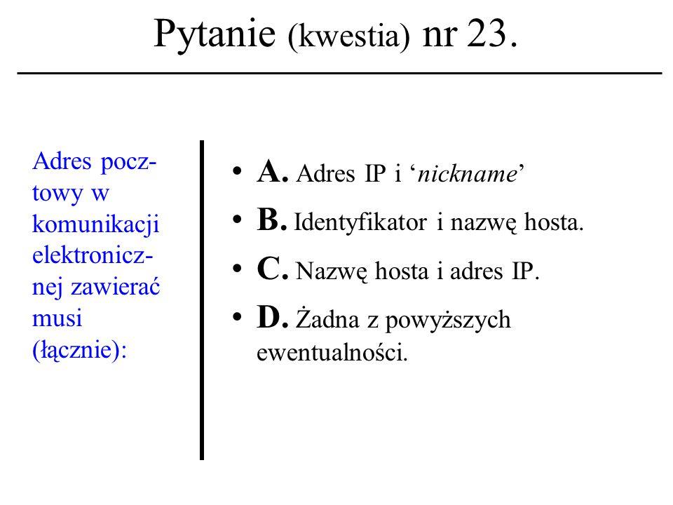 Pytanie (kwestia) nr 22.System operacyjny UNIX powstał pod koniec lat: A.
