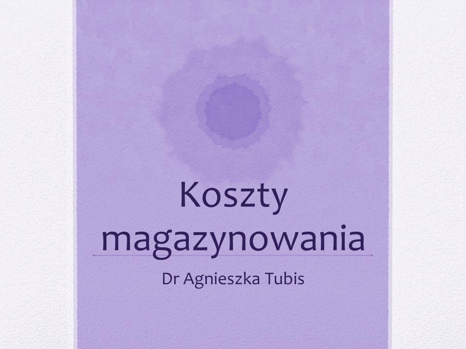 Koszty magazynowania Dr Agnieszka Tubis