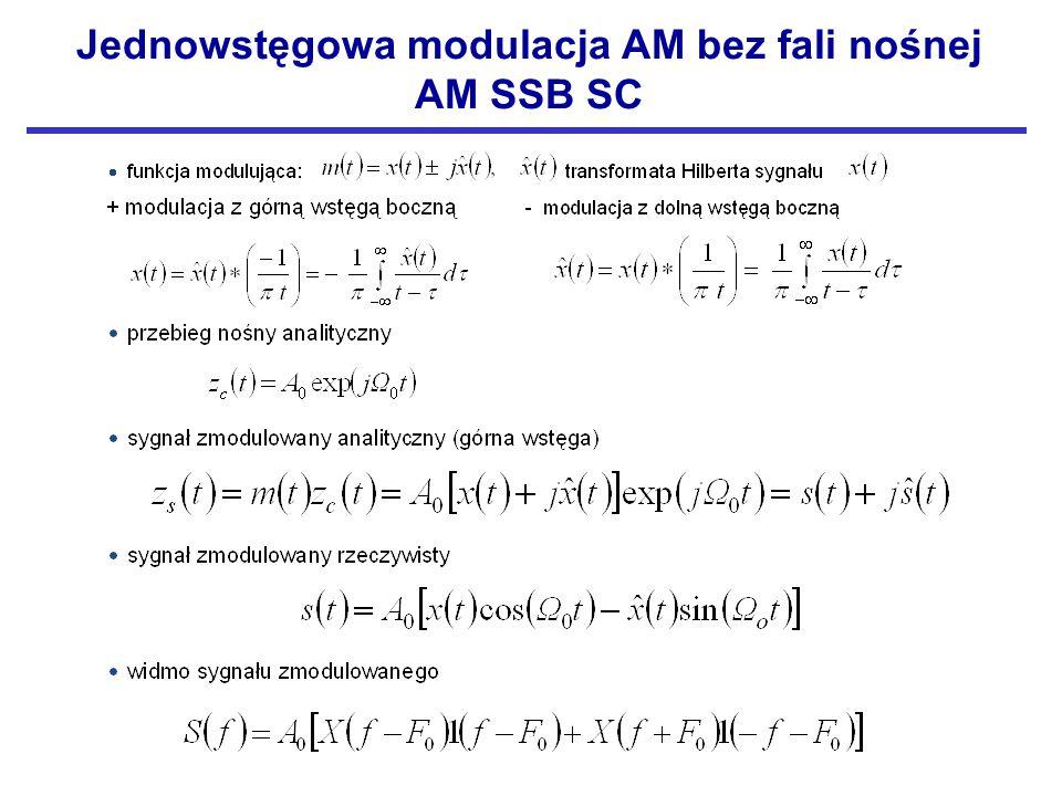 Jednowstęgowa modulacja AM bez fali nośnej AM SSB SC