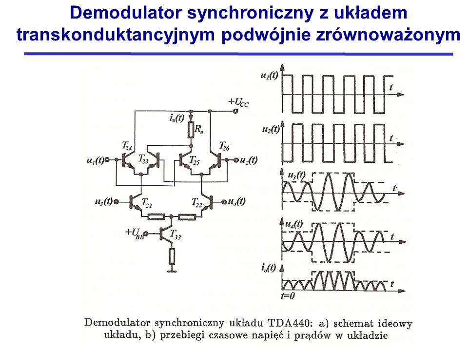 Demodulator synchroniczny z układem transkonduktancyjnym podwójnie zrównoważonym