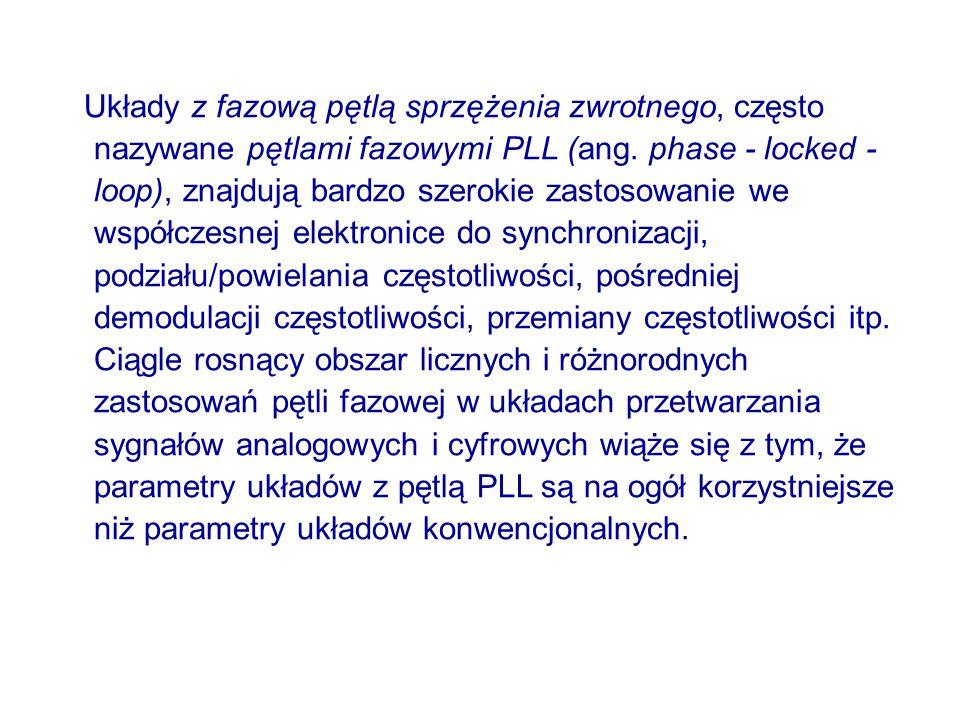Układy z fazową pętlą sprzężenia zwrotnego, często nazywane pętlami fazowymi PLL (ang.