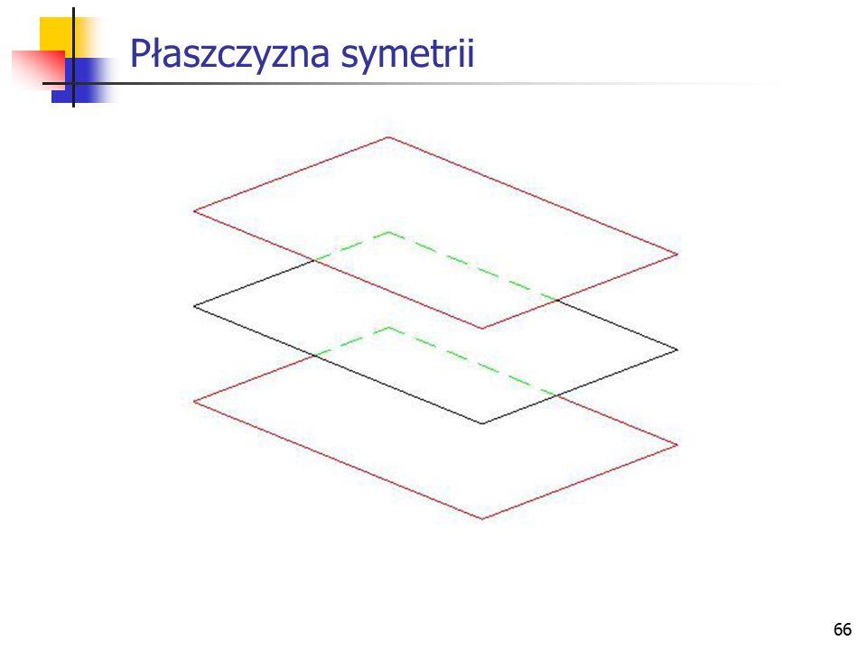 67 Elementy geometryczne i relacje Wektory Definicje elementów geometrycznych Odległości między elementami geometrycznymi Kąty Elementy symetrii Przecięcia Rzuty