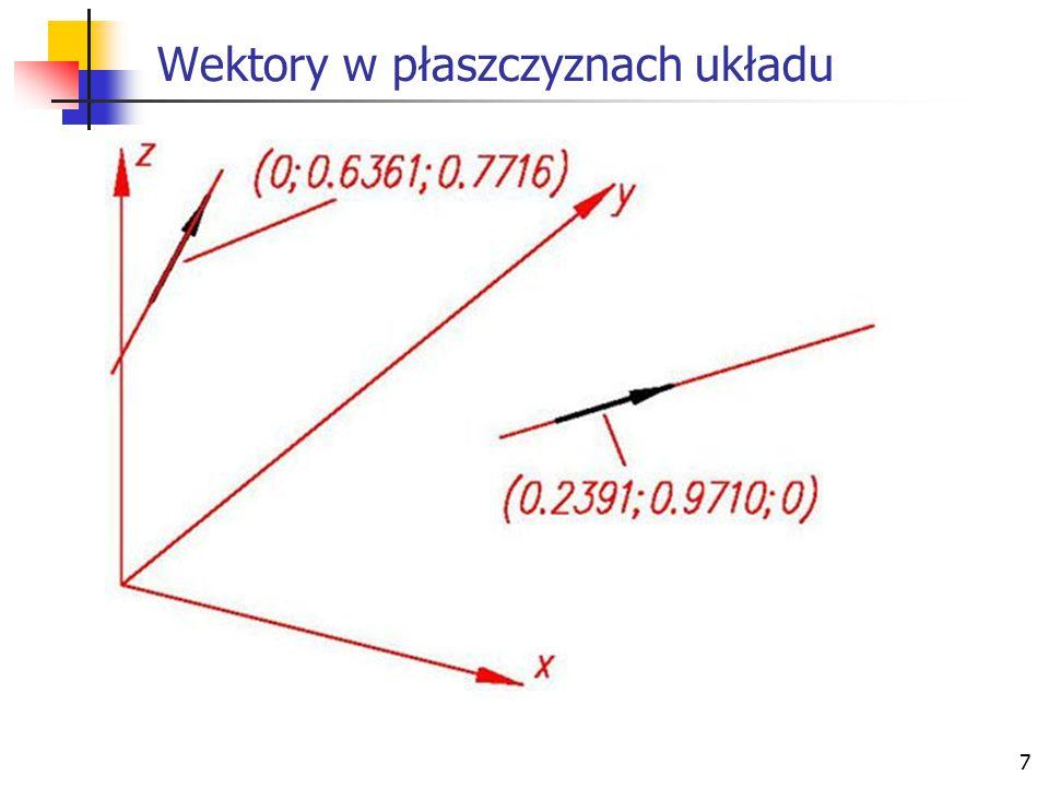 8 Obliczenie długości wektorów