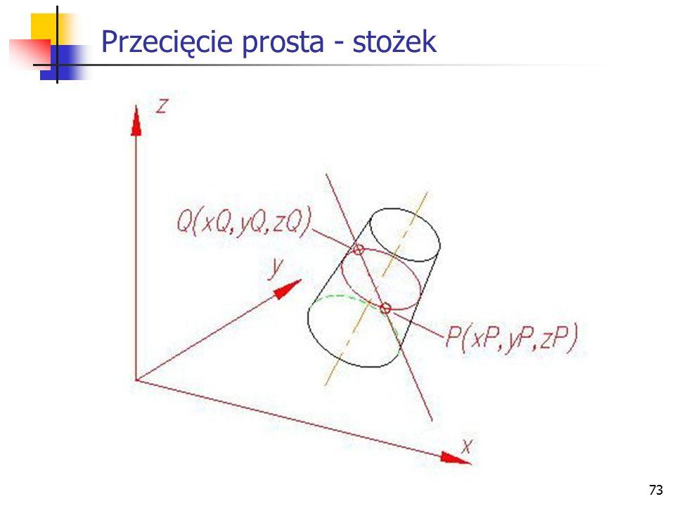 74 Przecięcie prosta - sfera