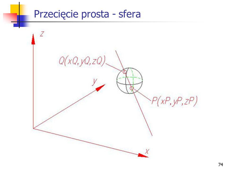 75 Przecięcie okrąg - okrąg