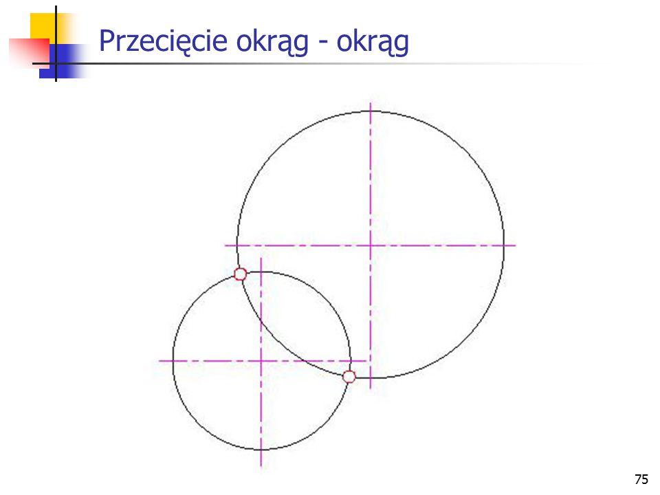 76 Przecięcie okrąg - płaszczyzna