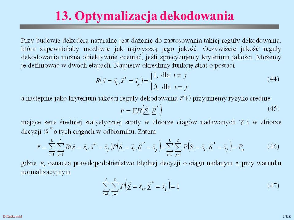 D.Rutkowski82/KK 24.3. Przykłady zastosowań kodów łączonych
