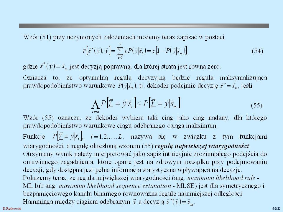 D.Rutkowski76/KK 24.Zastosowania kodów korekcyjnych i detekcyjnych 24.1.