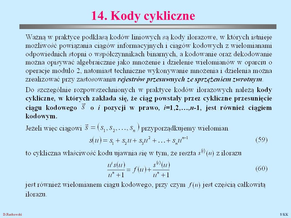 D.Rutkowski8/KK 14. Kody cykliczne
