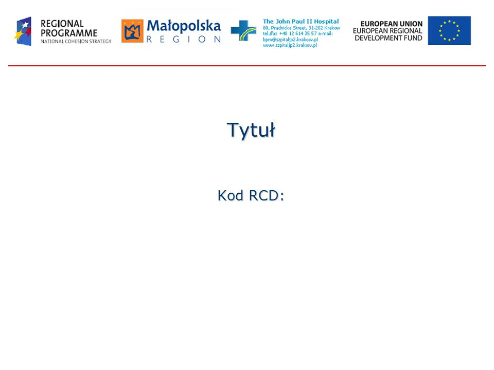 Tytuł Kod RCD: