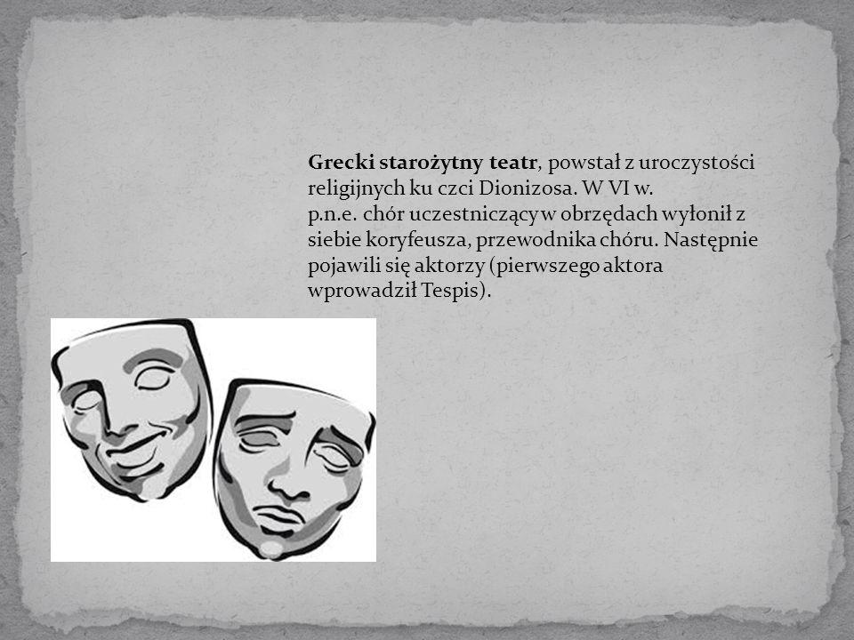 Maska była podstawowym elementem stroju starożytnego greckiego aktora.