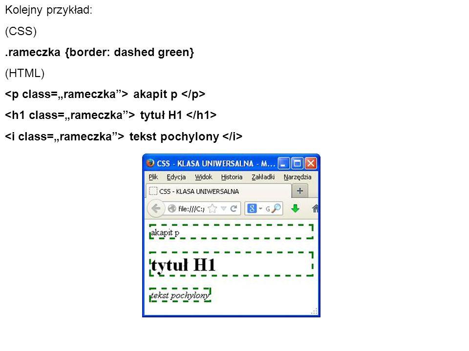 Innym narzędziem do zmiany elementów strony są identyfikatory.