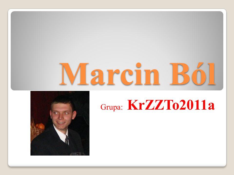 Życiorys Nazywam sie Marcin Ból.Mieszkam od urodzenia w Krakowie.