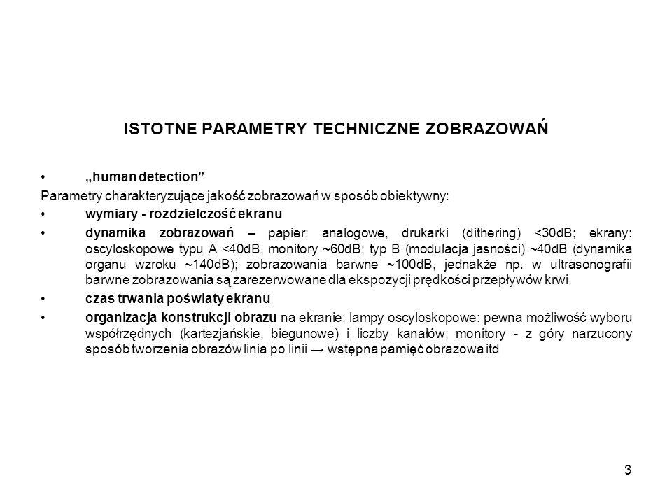 """3 ISTOTNE PARAMETRY TECHNICZNE ZOBRAZOWAŃ """"human detection"""" Parametry charakteryzujące jakość zobrazowań w sposób obiektywny: wymiary - rozdzielczość"""