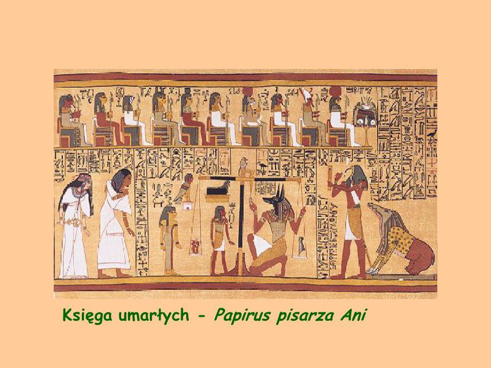 Zwój papirusu po rozwinięciu, widoczne są ślady łączenia arkuszy papirusu.
