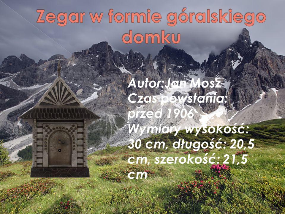 Autor:Jan Mosz Czas powstania: przed 1906 Wymiary wysokość: 30 cm, długość: 20,5 cm, szerokość: 21,5 cm
