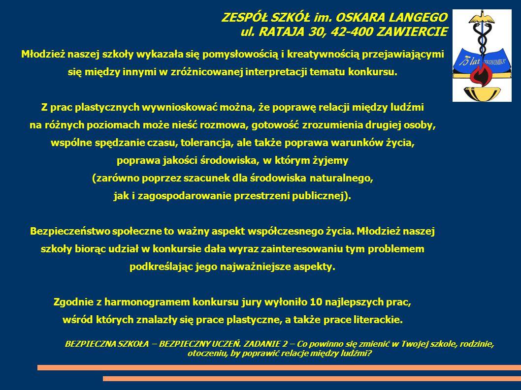 Oto wyróżnione prace pisemne lub ich fragmenty: Praca nr 1 – autorka pracy: Patrycja Fidera, kl.