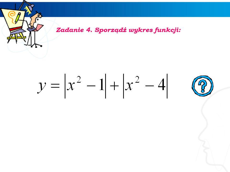 3 Zadanie 3. Sporządź wykres funkcji:
