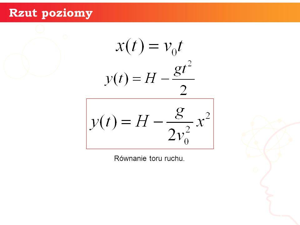 informatyka + 5 Rzut poziomy Równanie toru ruchu.
